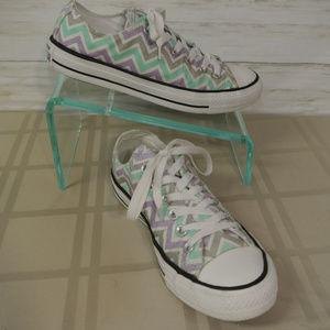 Converse All Star Sz 8 Women ZIG ZAG Sneaker Shoe